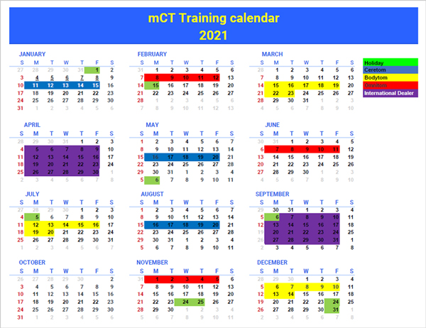 View the Mobile CT Technical Training Schedule