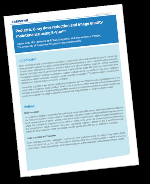 UT Health S-Vue Pediatric Low Dose White Paper