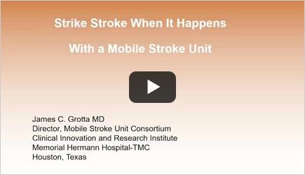 Strike Stroke - When It Happens With a Mobile Stroke Unit