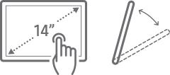 Tilting screen icon